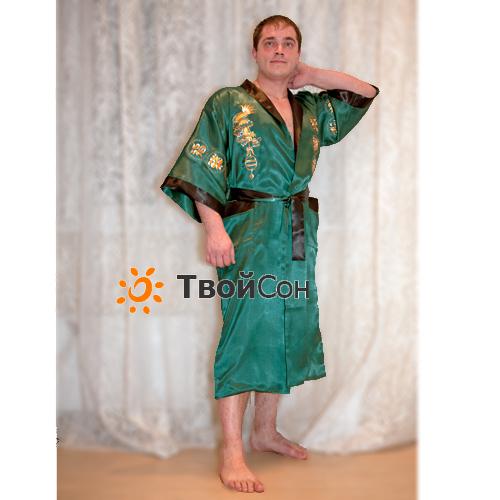 Шелковый халат унисекс